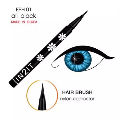 IN2IT Hair Brush Eyeliner Pen EPH 01 all black